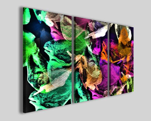 Quadri astratti colorati Foliage dance stampe moderne