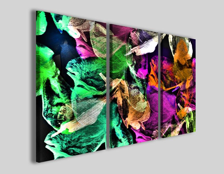 Quadri astratti colorati Foliage dance stampe moderne - 30ArtGallery