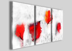 Stampe su tela astratte Art.36 quadri astratti fiori rossi