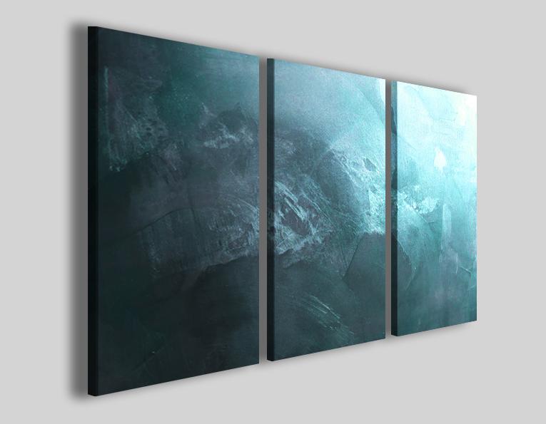 Stampe su tela colorate blu celeste Art.39 quadri astratti su tela ...