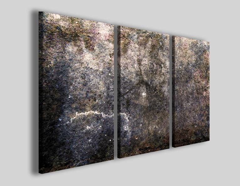 Stampe su tela moderne Art.58 quadri astratti marrone grigio e nero foto