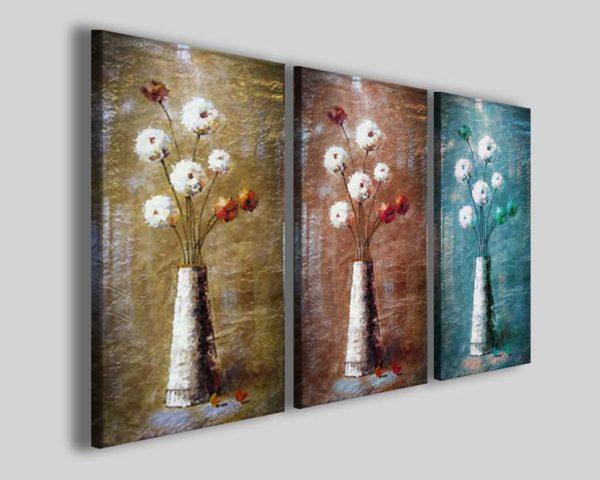 Quadri moderni fiori art 66 stampe su tela canvas