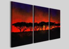 Stampe su tela con telaio Art.3 quadri con paesaggi design innovativo immagini colorate