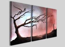 Stampe su tela con alberi astratti Art.4 quadri moderni su tela canvas
