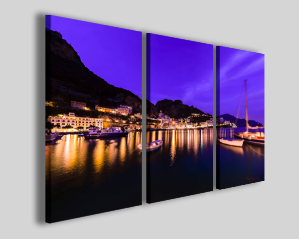 Quadro Amalfi at night II stampa su tela città