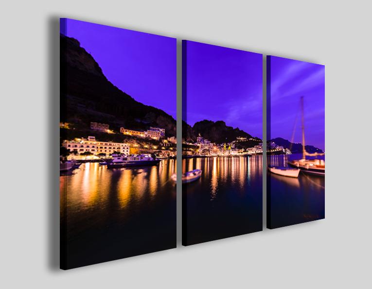 Quadro Amalfi at night II stampa su tela città