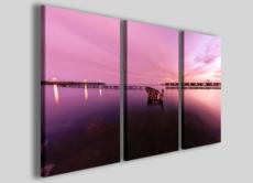Quadro tramonto Infinito viola stampe su tela colorate paesaggi, mare e tramonti 130 x 90