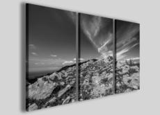 Quadri bianco e nero Rocks to the sky stampe su tela paesaggi tramonti