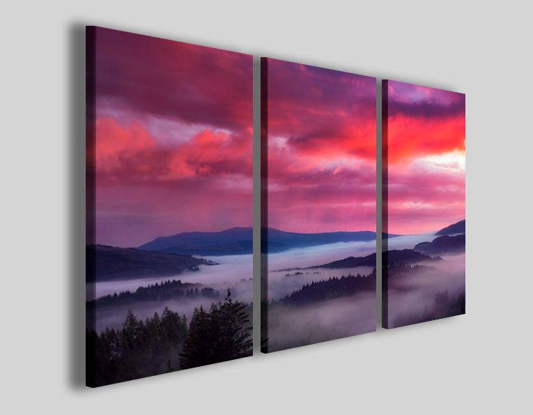 Quadro su tela Braking sunset stampa su tela canvas