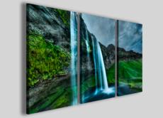 Quadro su tela paesaggio Iceland waterfall stampa su canvas arredamento moderno
