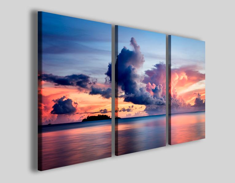 Quadri moderni paesaggi Model clouds stampe canvas
