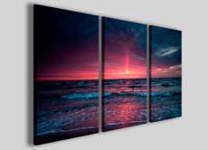 Stampe moderne foto tela Punkish sunset quadri moderni casa moderna arredamento