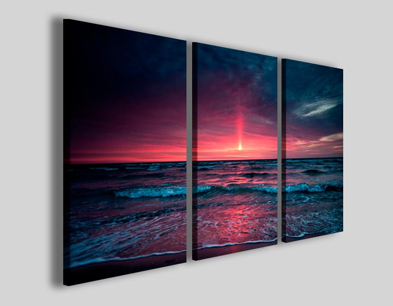 Quadri moderni paesaggi Punkish sunset stampe canvas