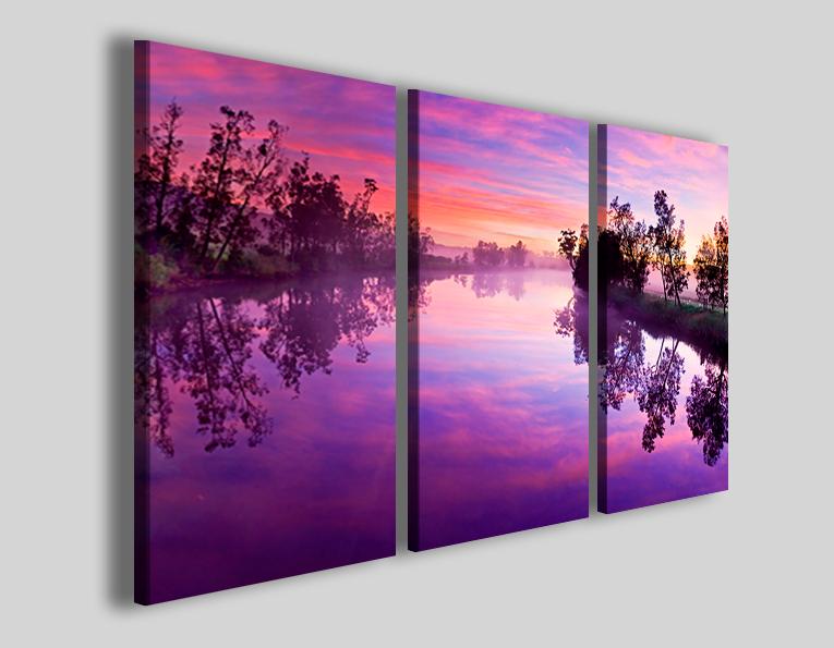 Quadri moderni paesaggi Violet reflector stampa paesaggio