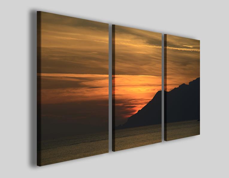 Quadri tramonti art 93 stampe moderne paesaggi