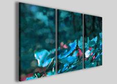 Quadri astratti fiori art 96 stampe su tela canvas arredamento blu