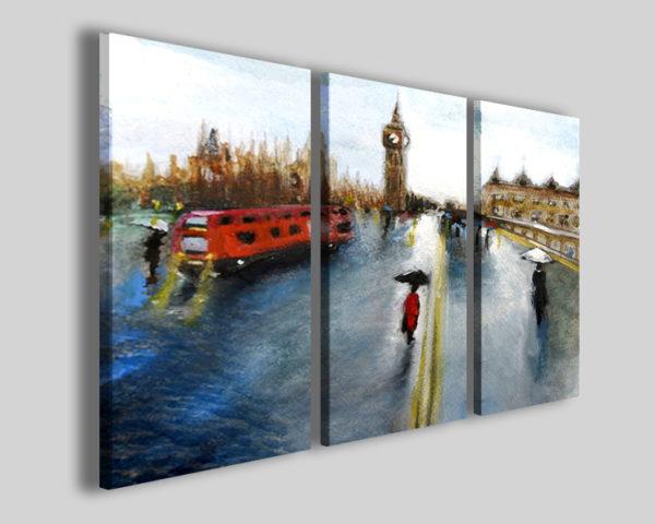 Quadri città London and rain impressionism