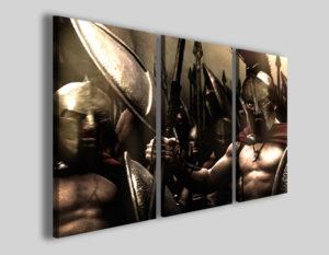 Quadri cinema 300 II stampe leonida spartani gladiatori