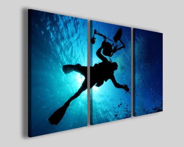 Stampa su tela sport subacquei art 4218 quadro sub