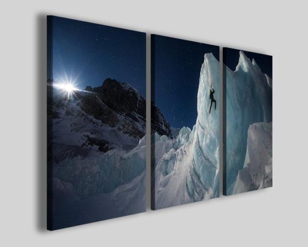 Stampa su tela sport trekking art 4219 quadro neve scalata