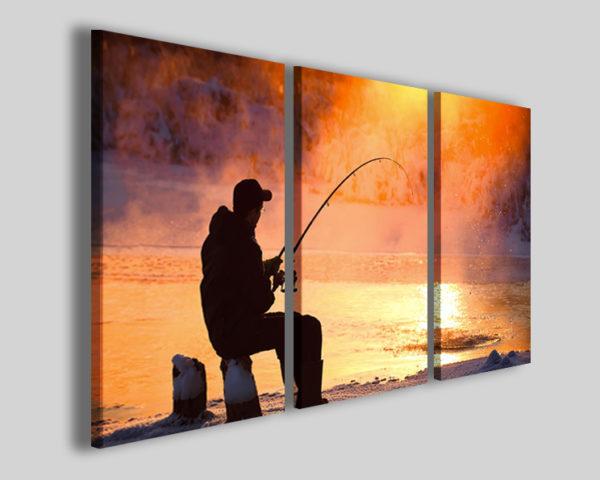 Stampa su tela art 4228 quadro sport pesca