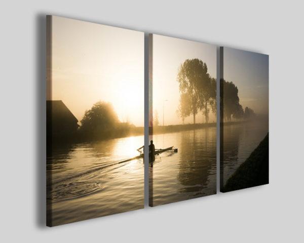Stampa su tela canoa art 4236 quadro kayak sport