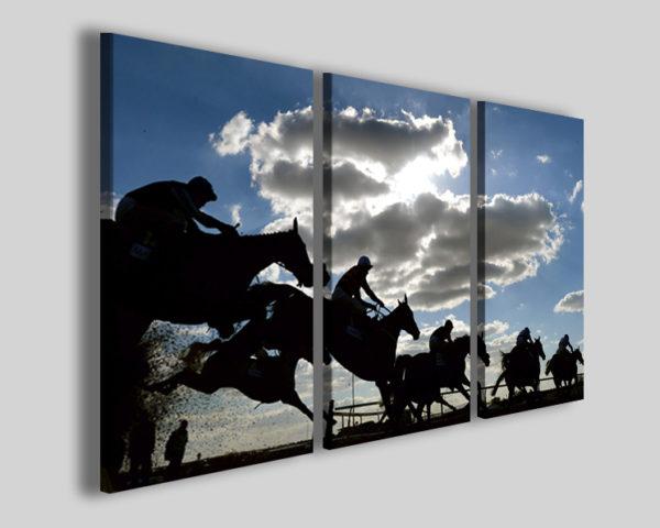 Stampa su tela canvas art 4240 quadro sport corsa cavalli