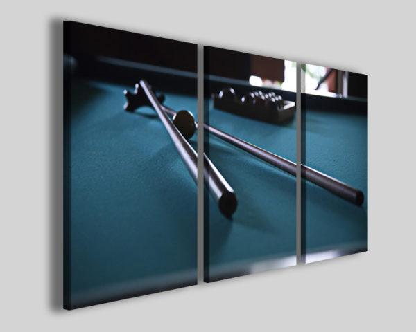 Quadri biliardo art 4252 stampe sport su tela canvas