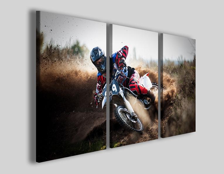 Quadri moto cross art 4254 stampe moto su tela
