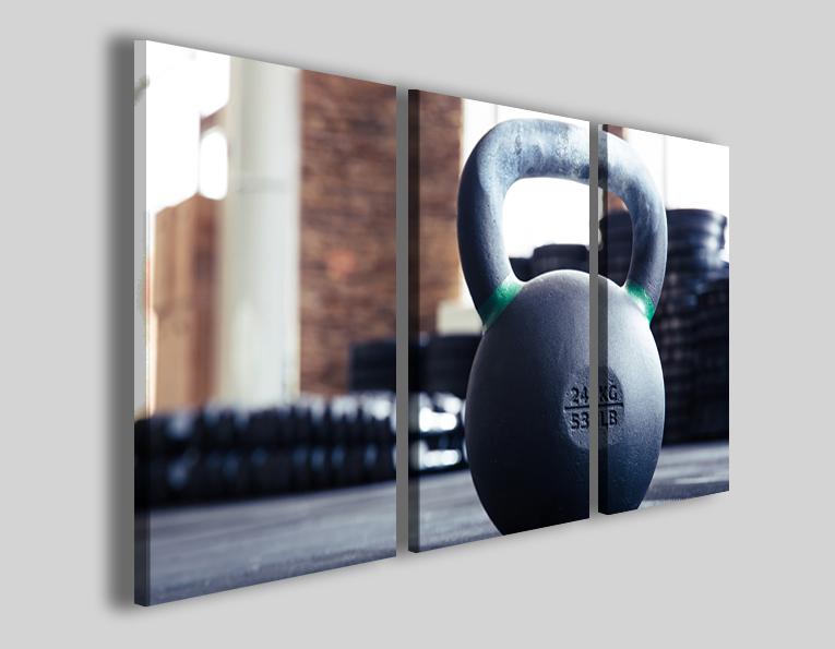 Quadri sport crossfit art 4279 stampe palestra pesi fitness
