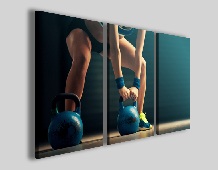 Quadri sport crossfit art 4280 stampe su tela palestra