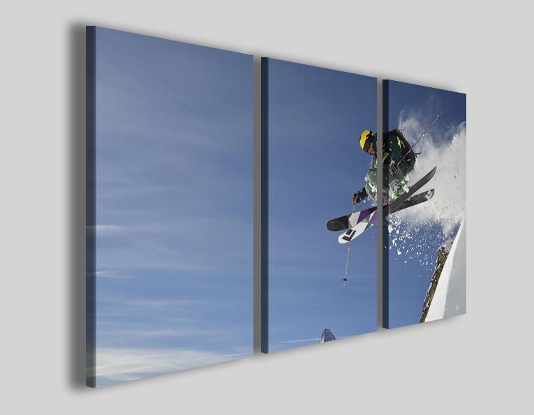 Quadri sci sport art 4291 stampe sciatore neve montagna