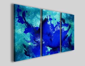 Quadro astratto Abstract scenery III stampa su tela