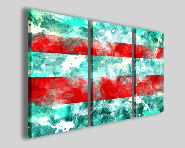 Quadri astratti Abstract  two red banded stampe astratte moderne
