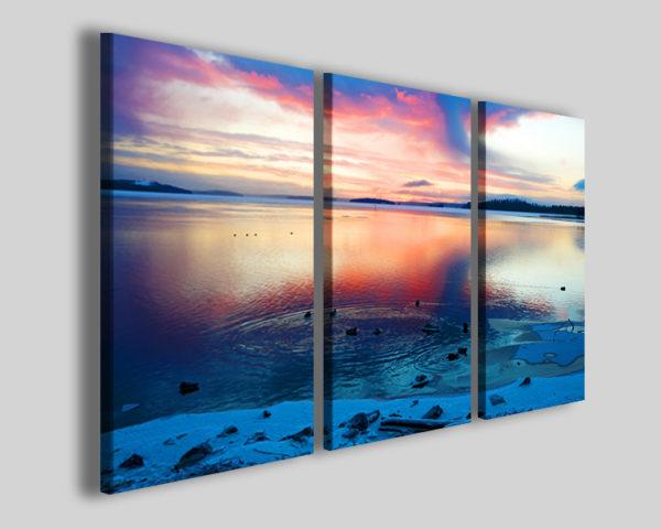 Quadro tramonto After soon stampe paesaggio lago