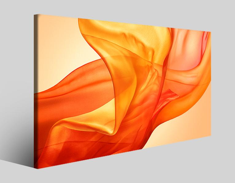Quadro astratto Air orange stampa su tela