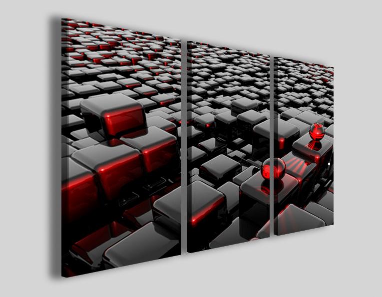 Quadri astratti Alternative cube stampe su tela canvas