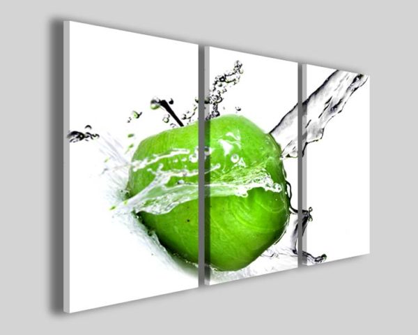 Quadro mela frutta Apple green stampe moderne