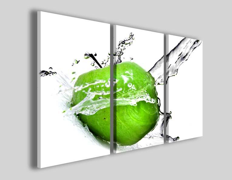 Quadro mela frutta Apple green stampe moderne