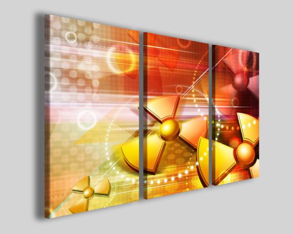 Quadro astratto Atomic immagini moderne su tela