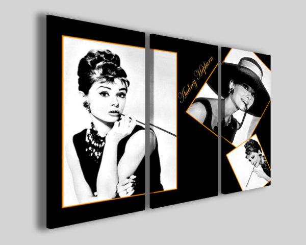 Quadri cinema Audrey Hepburn stampe famose celebrità
