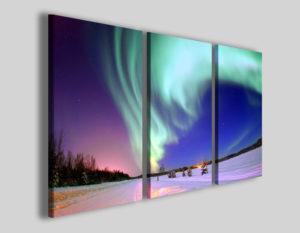 Quadro panorama Aurora borealis immagini su tela