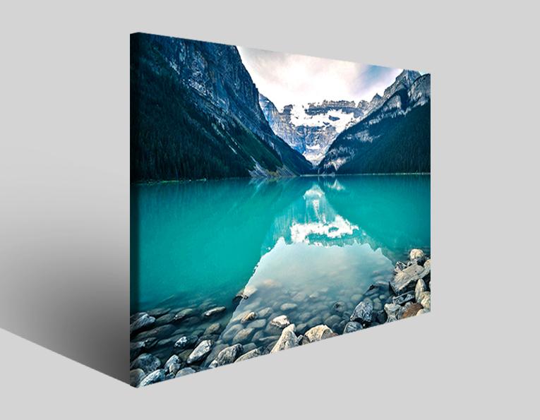 Quadri Canada lake stampe immagini su tela