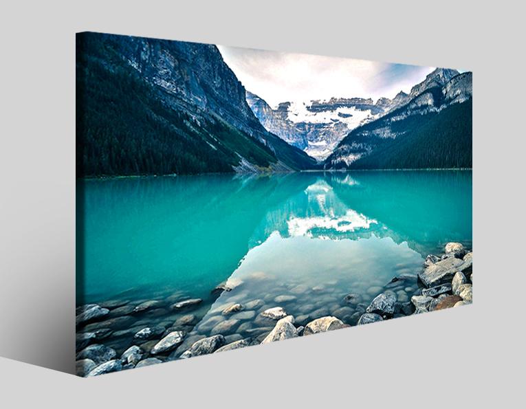 Quadro moderno Canada lake stampe moderne
