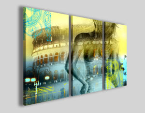 Quadri moderni Colosseo fuse abstract stampe roma