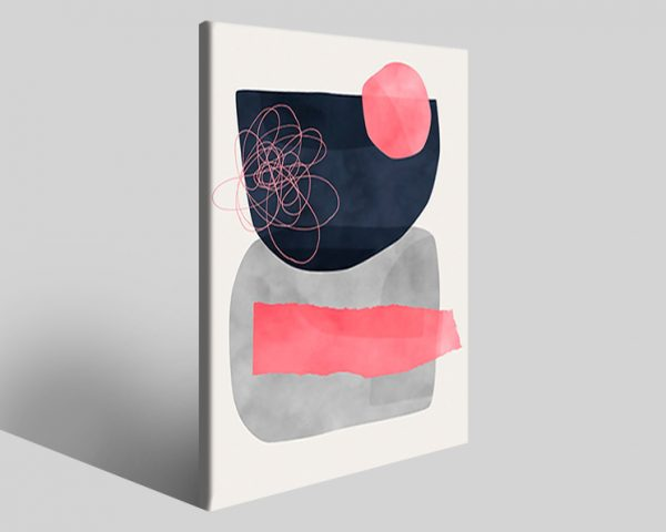 Quadro geometrico Design 728 stampa su tela