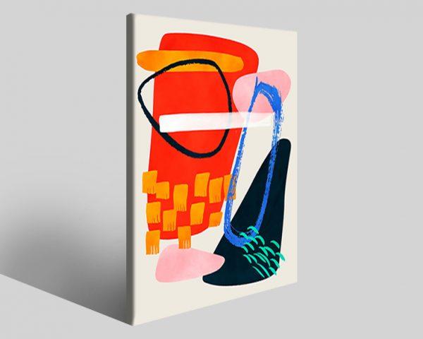 Quadro geometrico Design 735 stampa su tela