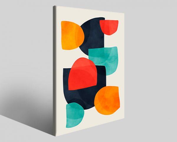 Quadro geometrico Design 736 stampa su tela