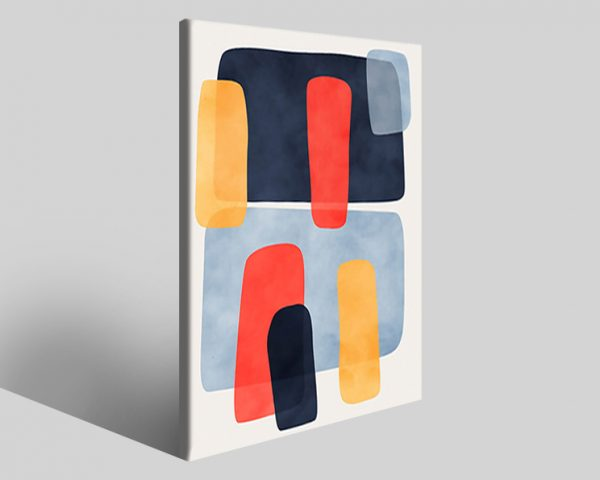 Quadro geometrico Design 744 stampa su tela