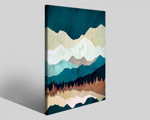 Quadro geometrico Design 771 stampa su tela